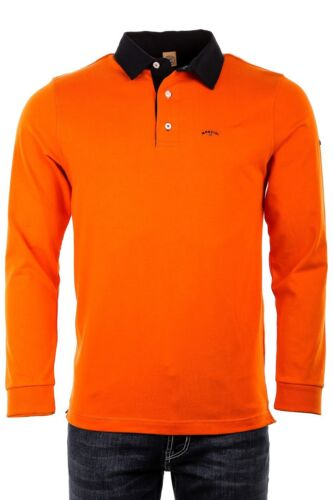 à '' Poitrine Manches 50 Polo Mesure £ Donny Flame 3xl Mancini Rrp Longues Orange 99 q1BxwSz4aW