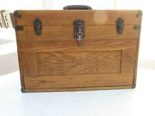 Vintage Wooden Machinist Tool Chest 7 Drawers Lock Withkeys Excellent Condition