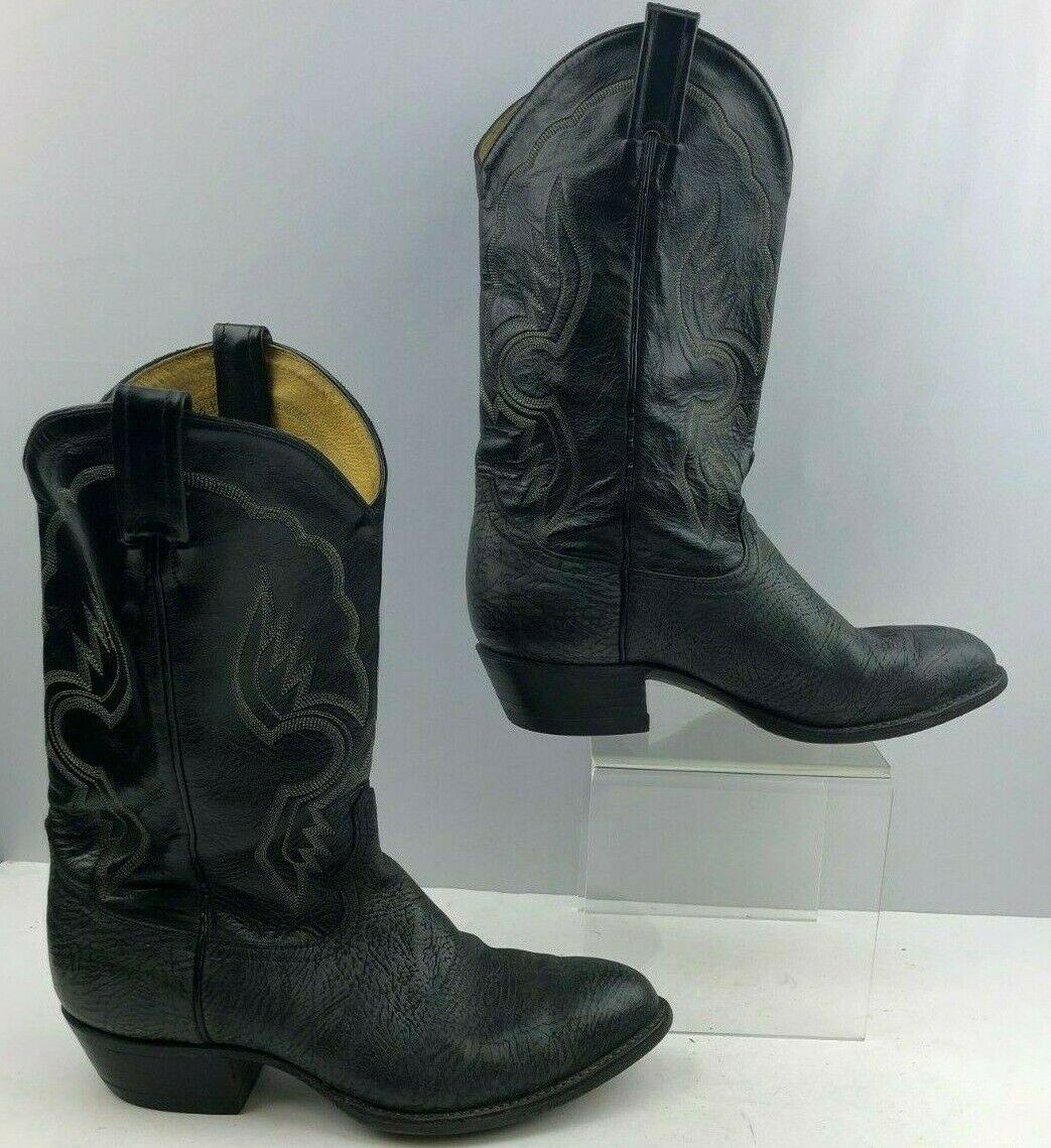 Men's Tony Lama Grey Leather Cowboy Boots Size  9.5 EE