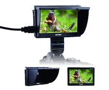 5'' Hot Shoe On-camera Video Monitor AV HDMI Input for Canon Nikon DSLR Camera