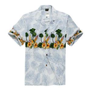Men-Tropical-Hawaiian-Aloha-Shirt-Cruise-Luau-Beach-Party-White-Surfboards-Flora