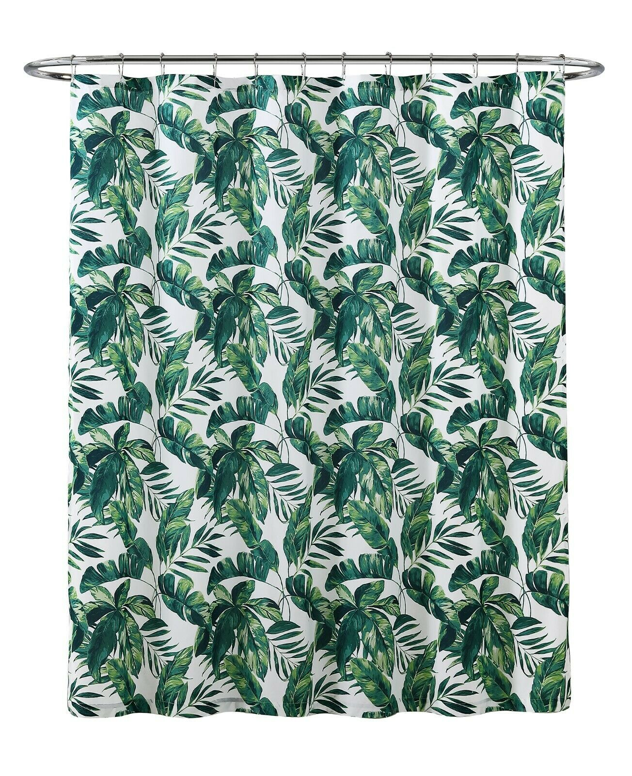 Tropical Palm Leaves Print Fabric Shower Curtain White Green Microfiber Bath New For Sale Online Perfect for digital and perfect to print. ebay