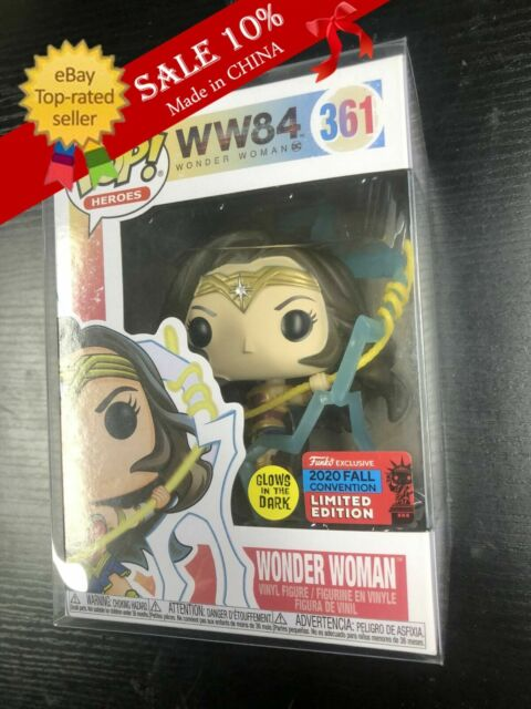 Funko Pop! Heroes WW84 Wonder Woman #361 2020 NYCC Exclusive With Protector