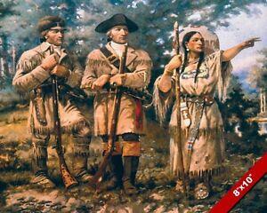 Image Is Loading Lewis Amp Clark Explorers W Sacagawea Oil Painting