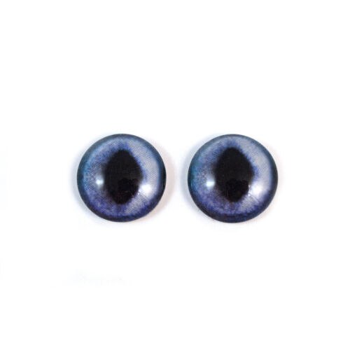 Glass Doll Eyes 12mm Blue Siamese Cat Realistic Animal Eye Jewelry Taxidermy Art