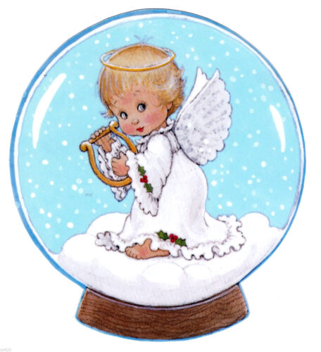 """5.5/"""" Precious moments angel harp christmas holiday window cling decal cut out"""