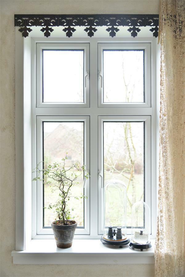 Jeanne d`Arc Living Fensterfries Fries 110x14,5 cm Metall  Brocante shabby