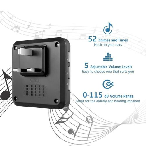Avantek D-3B IP55 Porte Sonnette Carillon Kit Sonnette sans fil