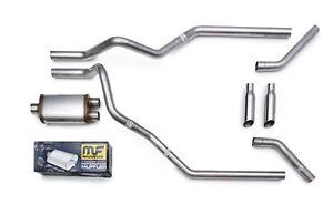 "15-18 Chevy Silverado Truck 2.5/"" Mandrel Bent Dual Exhaust Kit Magnaflow Muffler"