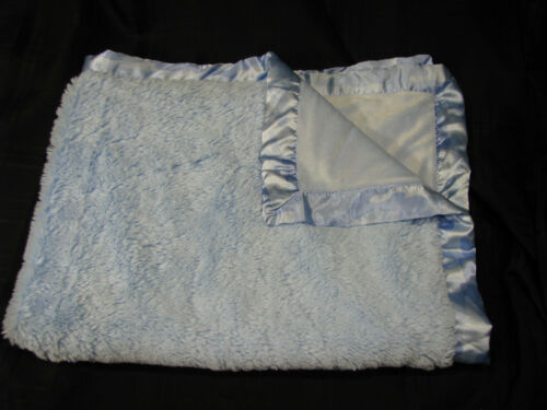 "Koala Baby Blue Blanket Camo Satin Shaggy Camouflage Furry Toys R Us 30/"" X 40/"""