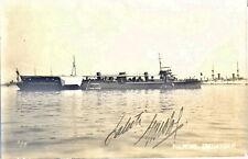 cart. fotogr. Nave Cacciatorpediniere Fulmine Marina da Guerra Italiana WW1 WWI