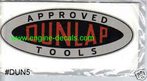 "Dunlap Tools decals 2.5"" long Vintage carpenters box 2 for one price"