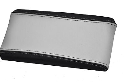 FITS ALFA ROMEO 147 ARMREST LID COVER LEATHER black /& white