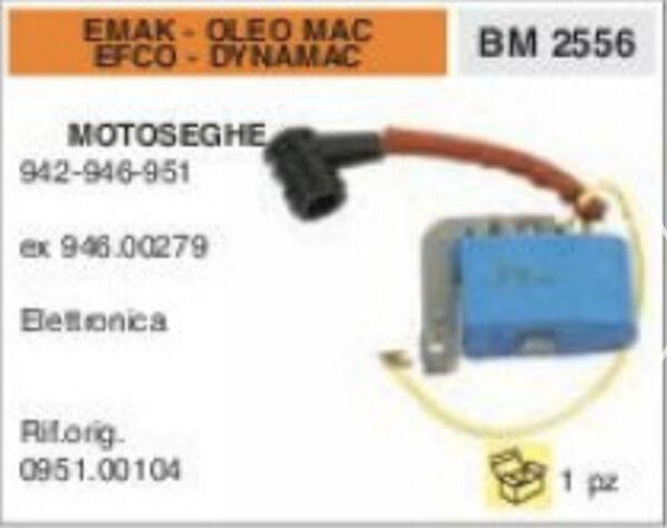 0951.00104 BOBINA ELETTRONICA MOTOSEGA EMAK OLEO MAC EFCO DYNAMAC 942 946 951