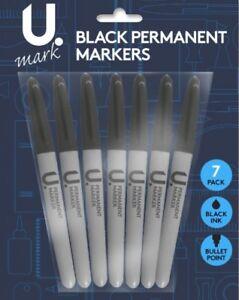 NEW-Black-ULTRA-FINE-Point-Bullet-Tip-Permanent-Marker-Pen-pack-of-2-3-4-5-10-12