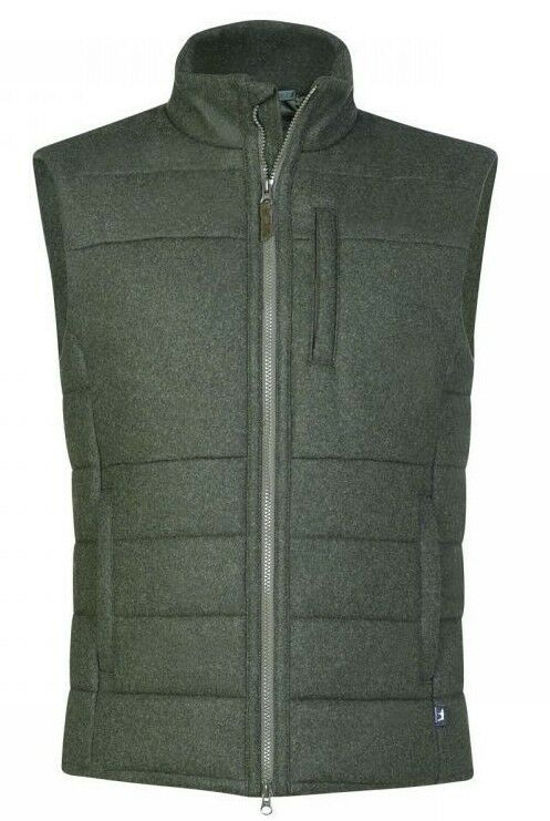 New  Jagdhund Lodenweste Quilted Vest Kematen - Olive - Thermolite Insulation