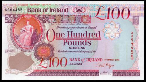 real bank of ireland ltd belfast £100 banknote  1992 1995  2005 VF++ AUNC UNC