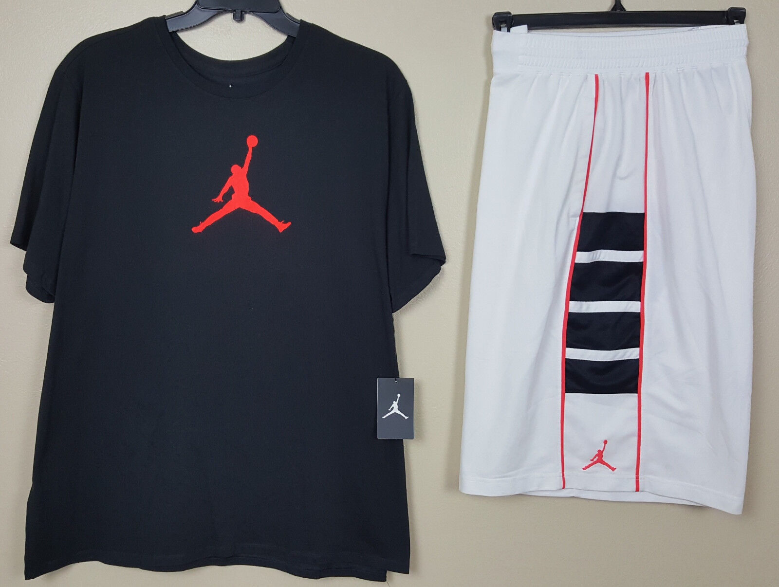 NIKE AIR JORDAN VI RETRO 6 OUTFIT SHIRT + SHORTS BLACK INFRARED RARE (SIZE 3XL)