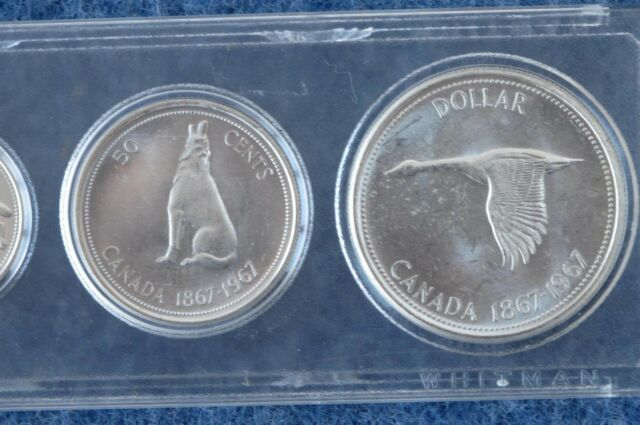 1967 Canada Centennial Commemorative 6 Coin Brilliant Uncirculated Silver Set