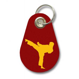 Samunshi Schlüsselanhänger Karate aus Filz Karatekämpfer  12 Farben 9,5x6,5cm