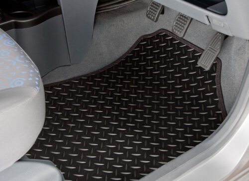 3523 TAILORED RUBBER CAR MATS WITH BLACK TRIM 2014-ON CITROEN C4 PICASSO