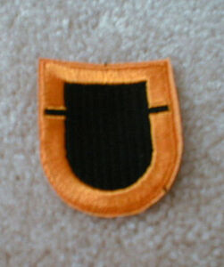 US Army 2nd Bn 501st Airborne Infantry Regiment beret flash patch m//e A