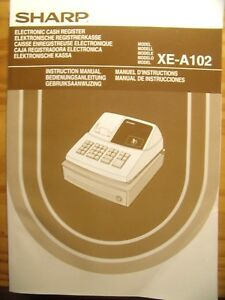 manufacturer instruction manual sharp xe a102 electronic cash rh ebay co uk manual for sharp xe-a102 instruction manual for sharp xe-a102 cash register