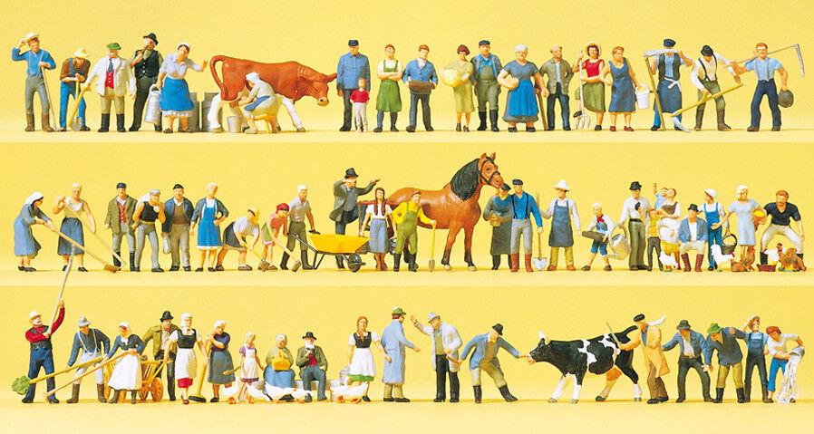 Preiser 13001 Spur H0 H0 H0 Figuren, Auf dem Bauernhof, 60 Figuren  NEU in OVP   | Innovation  ef13b7