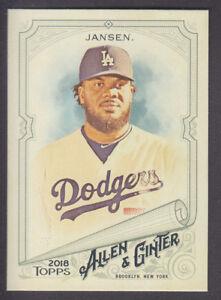 Topps-Allen-amp-Ginter-2018-Base-197-Kenley-Jansen-Los-Angeles-Dodgers