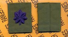 USAF Air Force LTC Lieutenant Colonel OD Green & Blue slip on rank patch