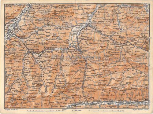 Kitzbühel Kufstein Pinzgau Tirol um 1900 historische alte Landkarte map
