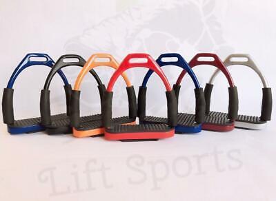 5 Inch Rainbow Horse Flexible Safety Saddle Stirrups Bendy Iron Stainless Steel
