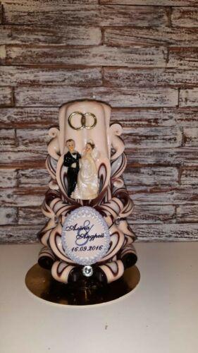Geschnitztekerze Kerze ca17 cm DEKO Weihnachten Herbst Geschenk Hochzeit