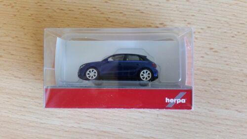 Herpa 034890-002 1//87 Audi A1 Sportback Scubablau Metallic Neu