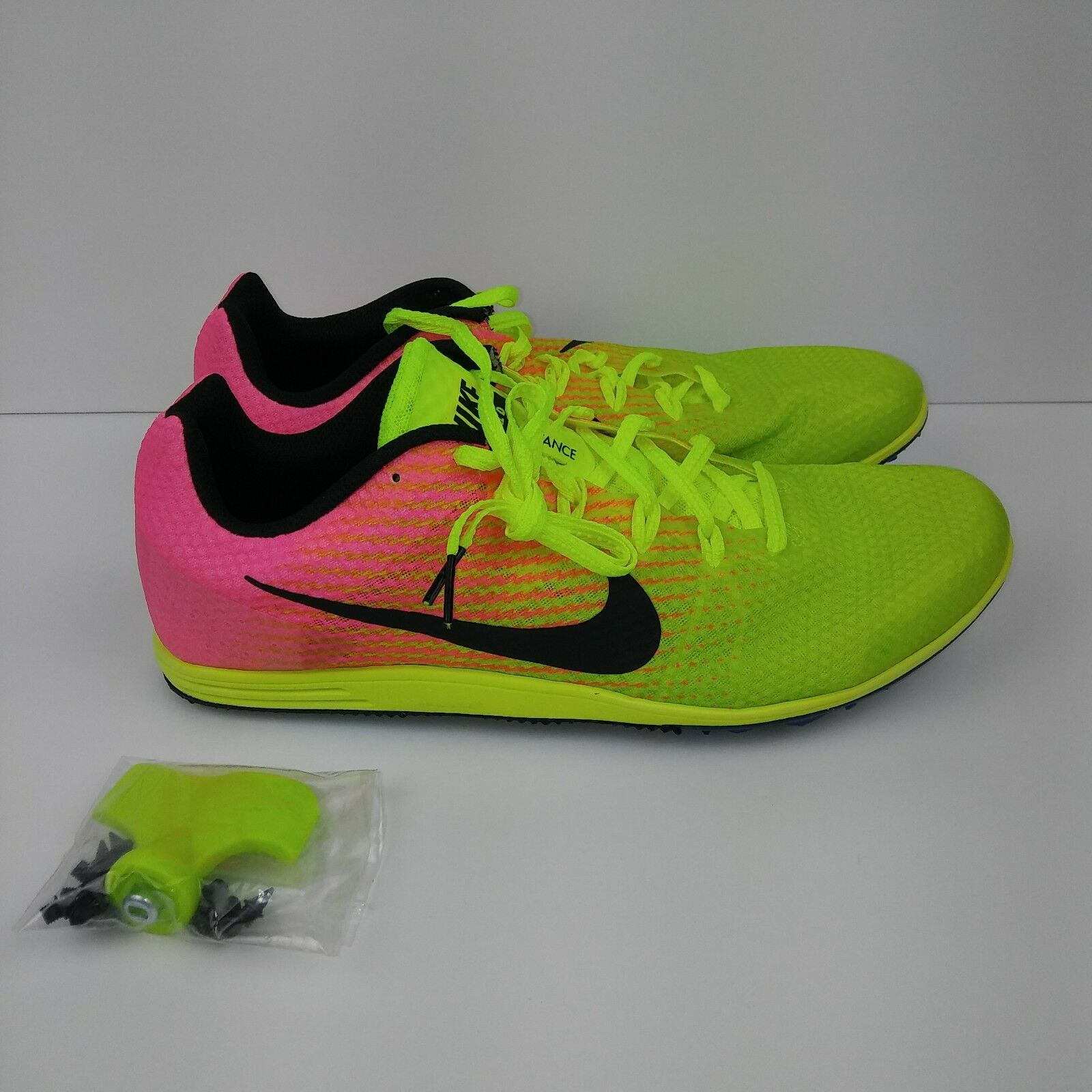 NIKE Zoom Rival D 9 Track Racing Running Spikes Shoes Volt Pink Men's Comfortable