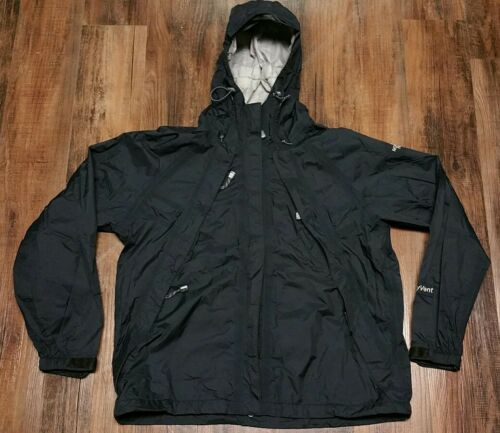 Hiking Kvinder Hyvent Face North Camping Jacket Nylon Hooded Stow Black Large The wnvSE0gxn