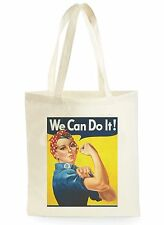 WE CAN DO IT POSTER FASHION COOL SHOPPING CANVAS TOTE BAG IDEAL GIFT PRESENT