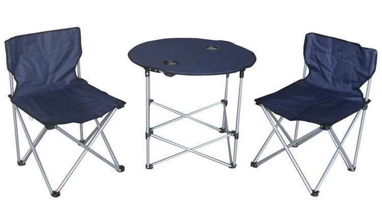 Folding Camping Table and 2 Chairs