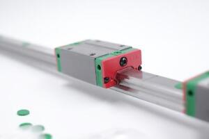 HIWIN 15mm Linear Rail Guide EGR15/& 2pc EGH15CA Rail Block CNC Router Milling