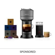 Nespresso Vertuo Next Dark Grey & Aeroccino3 + 50 Vertuo Capsules Coffee Machine