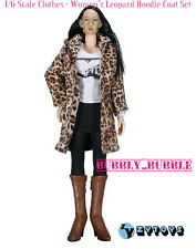 "1/6 Female Leopard Hoodie Coat Set For Hot Toys Phicen 12"" Figure SHIP FROM USA"