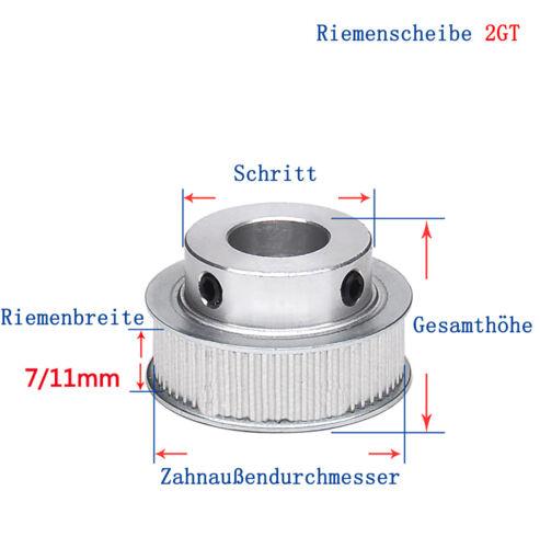 GT2 70T Zahnrad 2GT Riemenscheibe Zahnriemenrad Zahnriemen Pulley CNC 3D Drucker