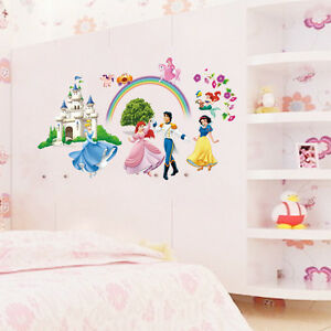 disney princess castle wall paper stickers kids some items you should have for your disney home decor 4