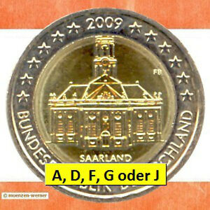 Sondermünzen Brd 2 Euro Münze 2009 Saarland Sondermünze Zwei