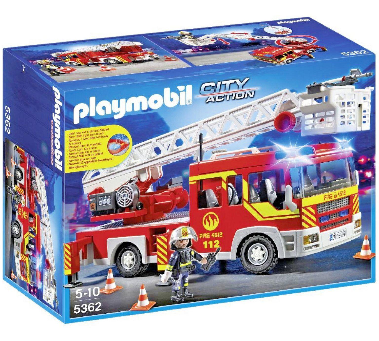 PLAYMOBIL 5362 City Action échelle Unité avec lumières et sons taille H15, W30, D40cm