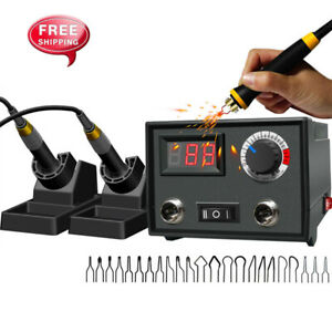 Digital-Display-Pyrography-Machine-Gourd-Wood-Burning-Double-Pen-Craft-Tool-Kit