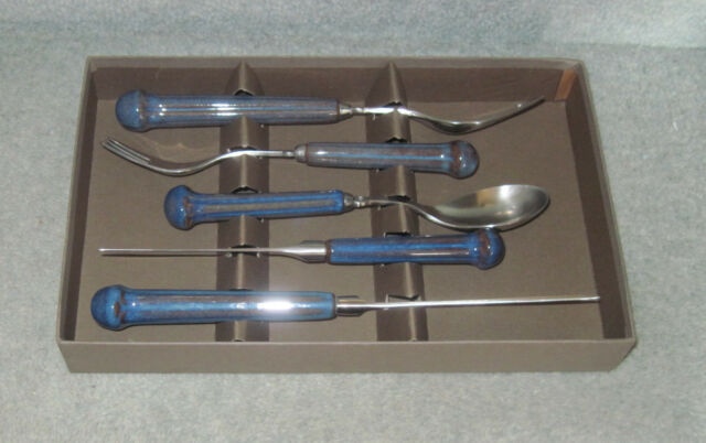 DENBY REGENCY SAPPHIRE CUTLERY - 5 place setting BOXED SET (unused)