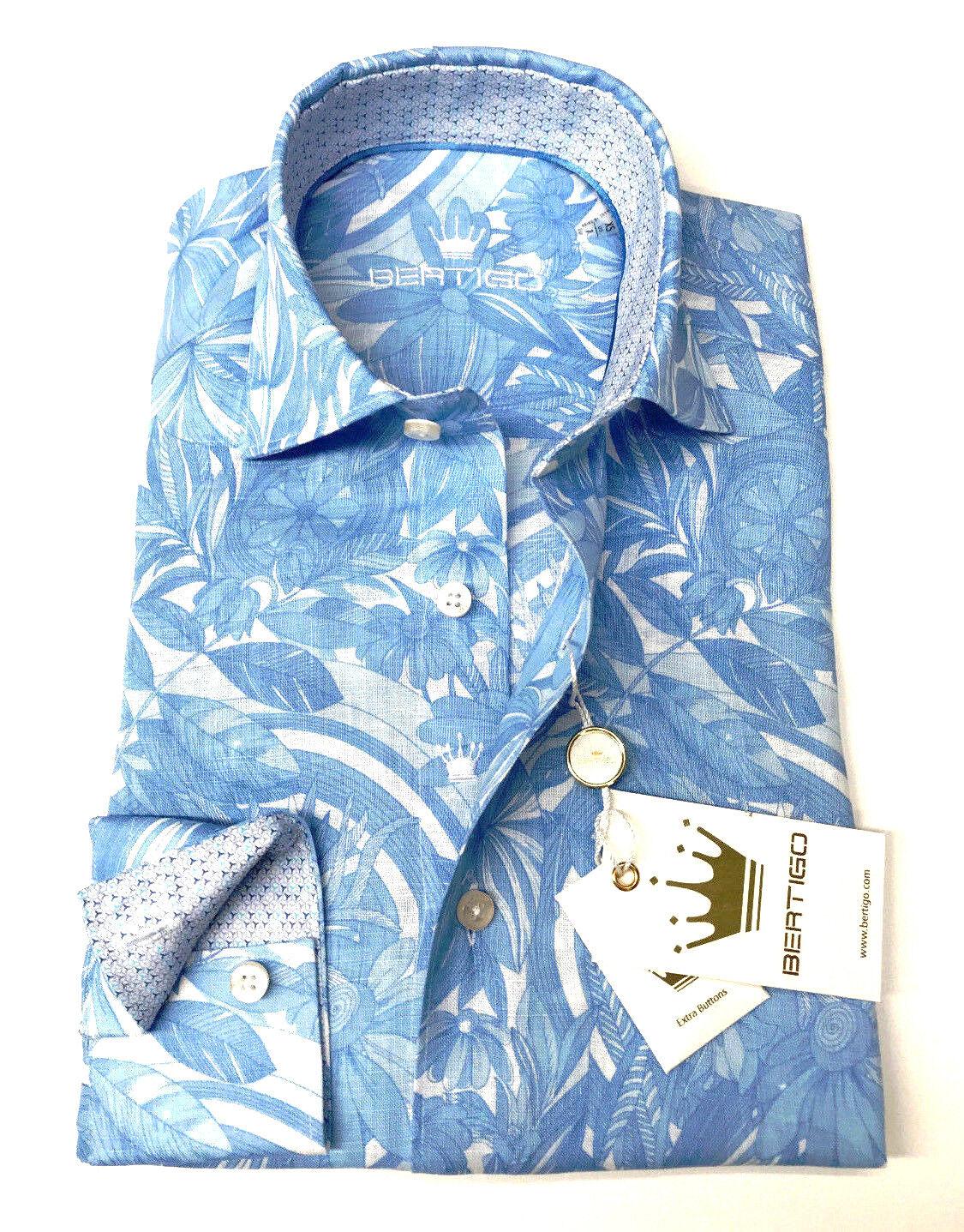 BERTIGO dress shirt LUIZ - 02 ( Weiß LABEL ) 2018 COLLECTION WAS  169