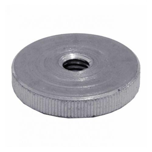 verzinkt far Automatenstahl galv flache Form M 3 10x DIN 467 Rändelmuttern