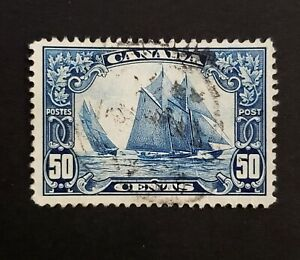 Canada-Used-Stamp-1929-50c-Scott-158-034-Bluenose-034